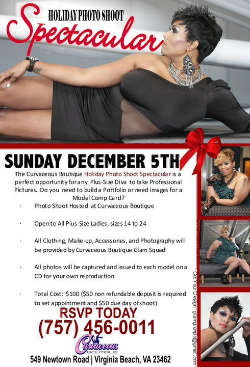 The Curvaceous Boutique Holiday Photo Shoot Spectacular