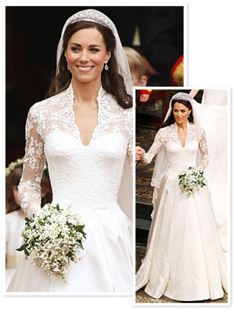 The look for less royal wedding style kate middleton s for Wedding dress kate middleton style