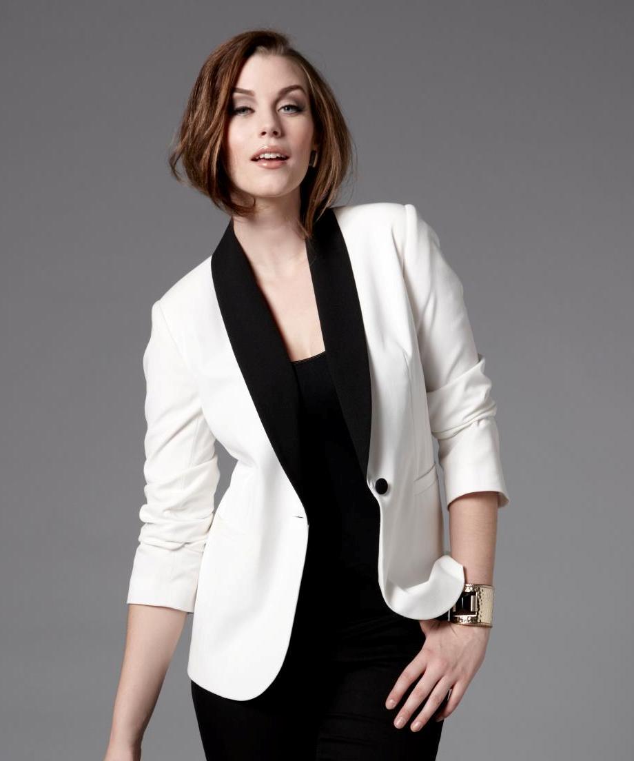 Plus Size White Tuxedo Jacket