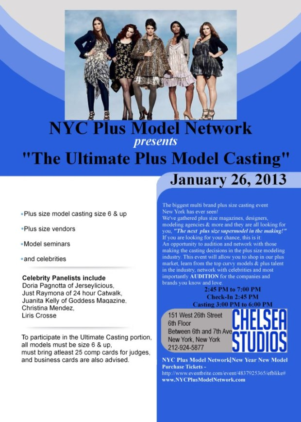The Nyc Plus Model Network Ultimate Plus Size Model Casting Call