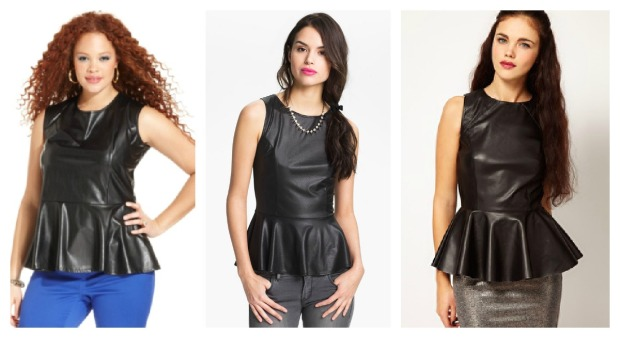 Leather Peplum Collage