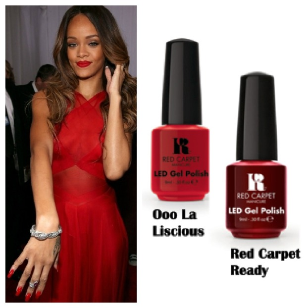 Rihannna Nails Collage