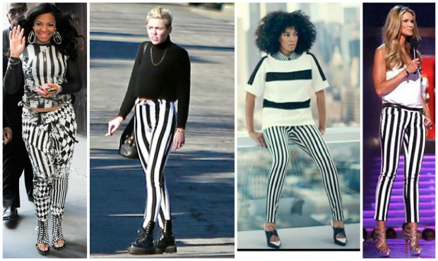 Celeb Stripe Collage