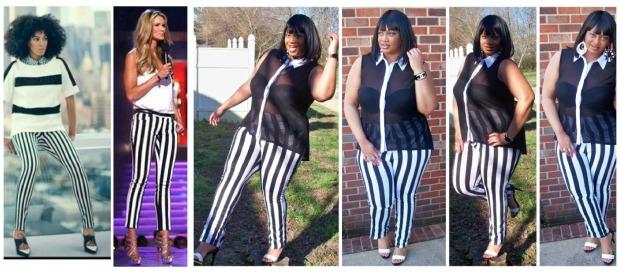 Celeb Stripes Collage
