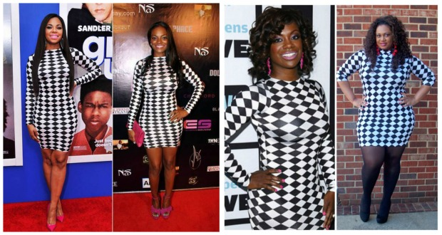 Checkered Dress Collage