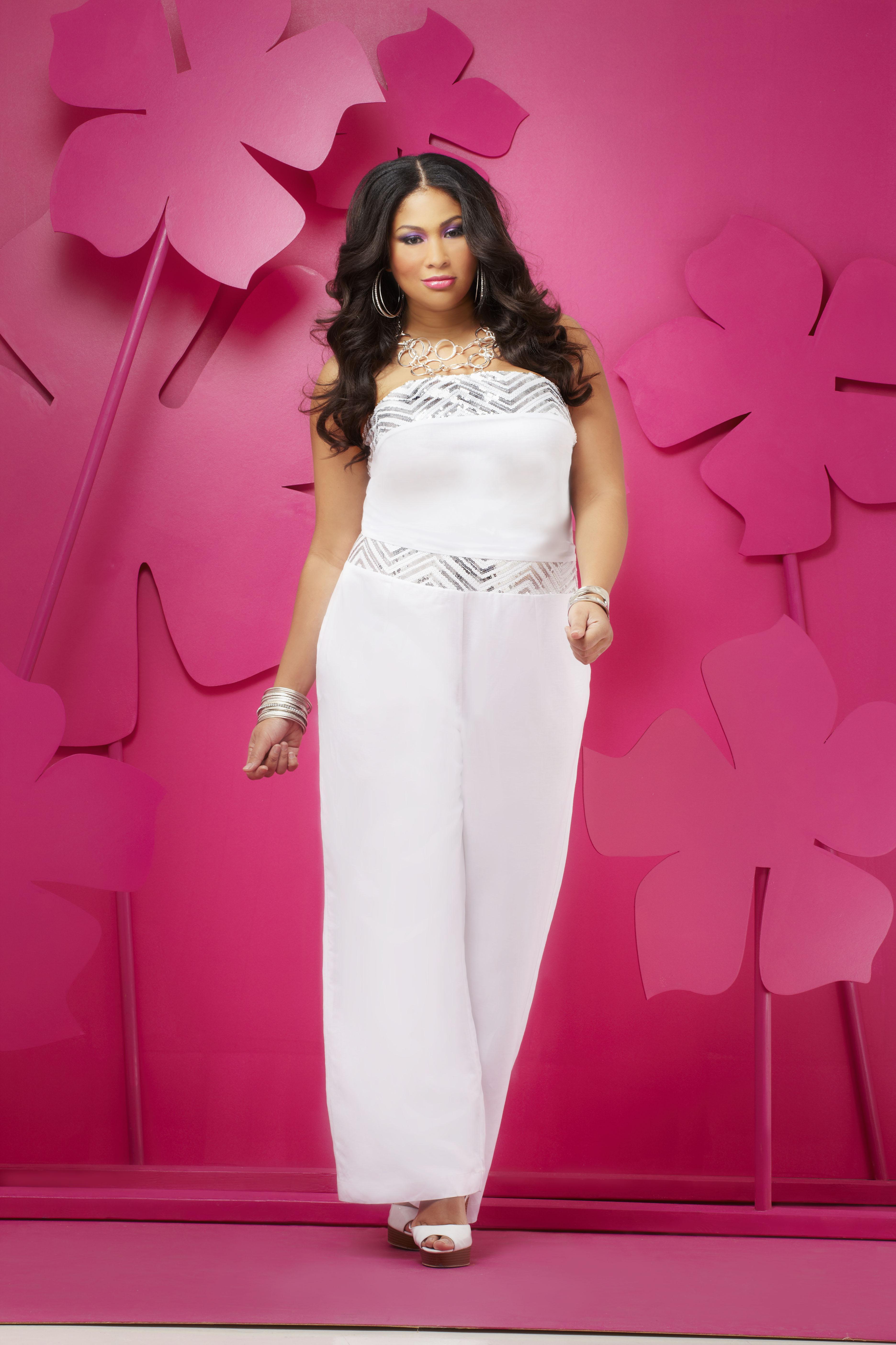 White plus size elegant jumpsuits car interior design Ashley stewart wedding dresses