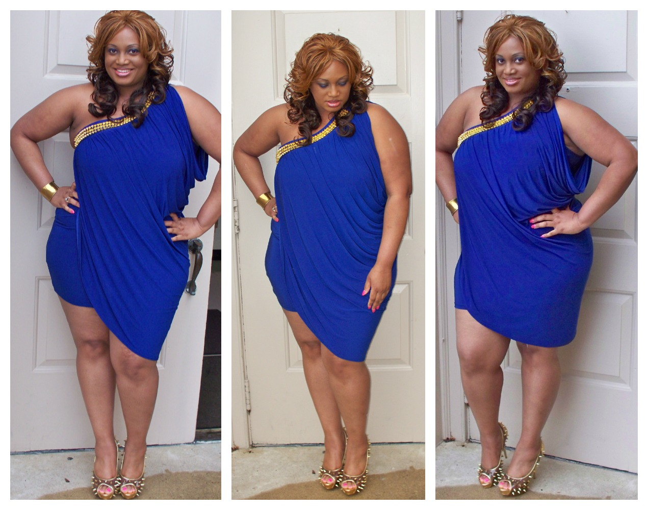 Ootd Blue Draped Spikes Quot Trendy Curves Quot By Bella Styles