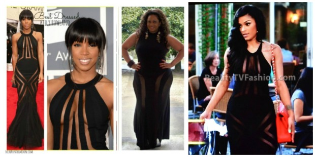 Kelly Grammy Gown Collage