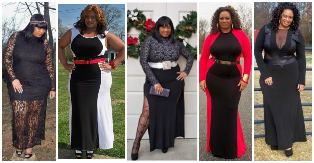 Chic and Curvy Boutique Clothing Collage