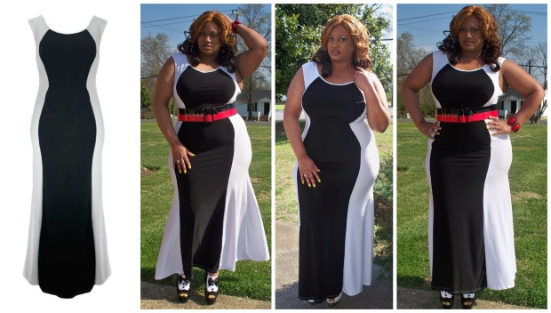 Spring Rockin My Curves Dress Collage