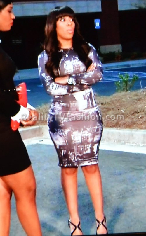 K.-Michelle-Black-White-City-Graphic-Print-Dress