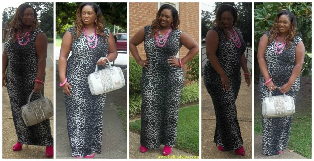 Pink Leopard Collage