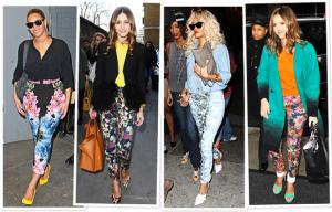 Floral Print Jeans Trend- Hannah