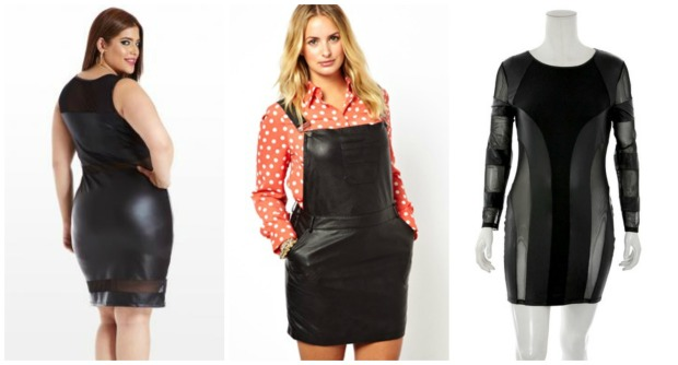 Faux Leather Dress Trend Collage