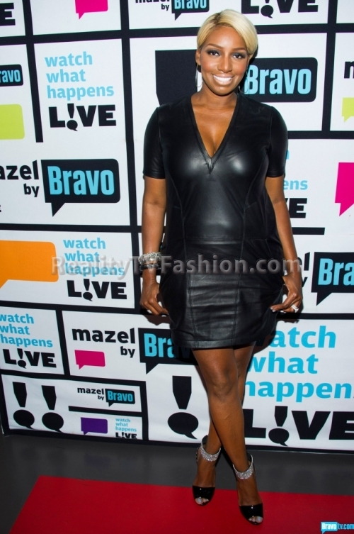 NeNe-Leakes-Watch-What-Happens-Live-Black-Leather-Dress