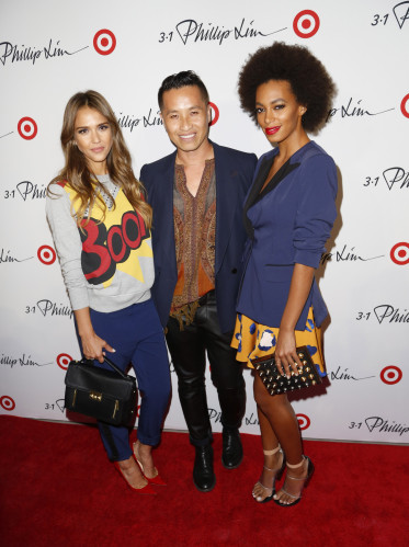 Celebrity arrivals at the 3.1 Philip Lim for Target event in NYC