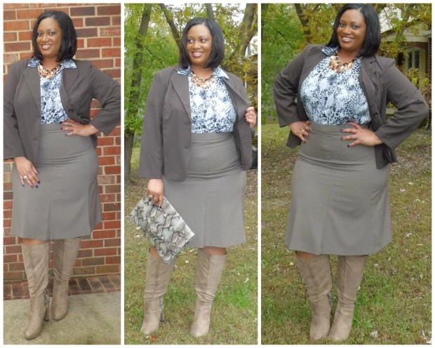 JMS Brown Blazer Look #1 Collage