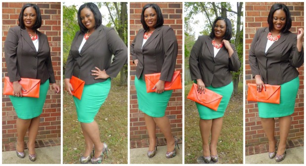 JMS Brown Blazer Look #2 Collage