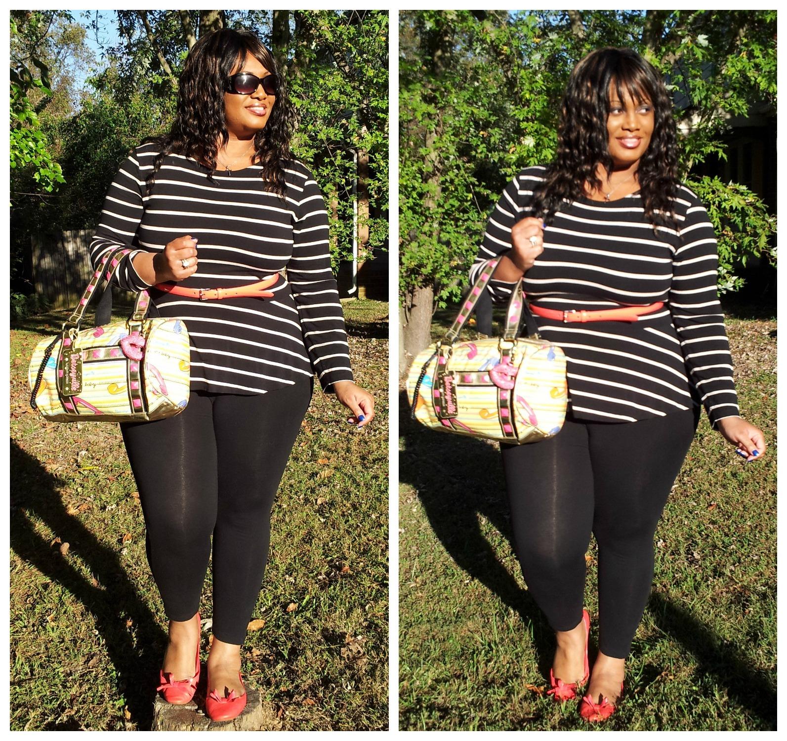OOTD Week #2- Fashion Friday in Just My Size Leggings | u0026quot;Trendy Curvesu0026quot; by Bella Styles LLC