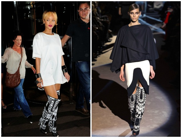 Rihanna Tom Ford Boots Collage