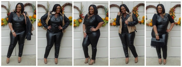 AS Faux Leather Jumpsuit Collage