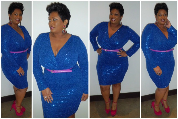 Blue Sequin Dress Collage