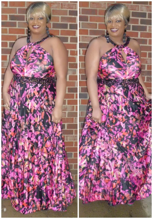 CC Pleat Petal Dress Collage