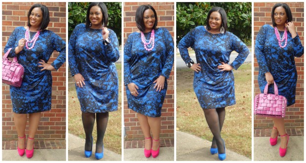 JMS BlackBlue Printed Dress Collage