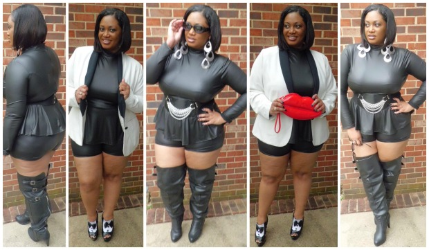 Leather Shorts Collage