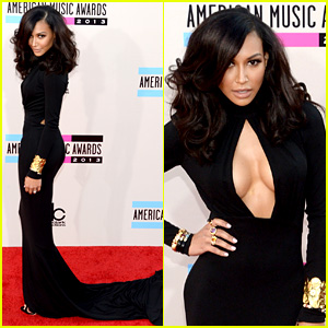 naya-rivera-amas-2013-red-carpet