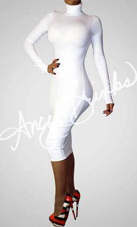 """Grab Her Style: """"Erica Campbell&-39-s White Turtleneck Dress and Shoes ..."""