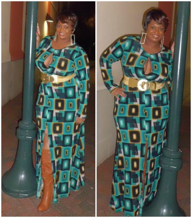 Keyhole Dress Collage