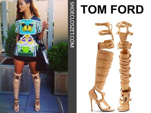 rihanna-instagram-tom-ford-gladiator-sandals-cream-shoe-closzet