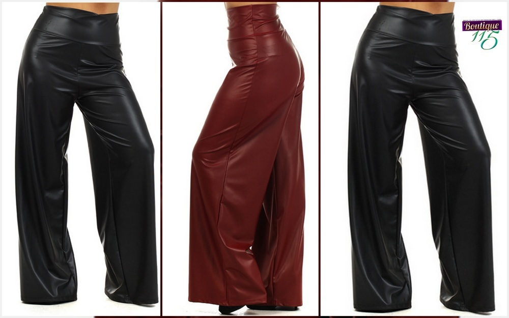 "a078947c7df GRAB HER STYLE  ""Mary Mary s Black Leather Palazzo Pants"