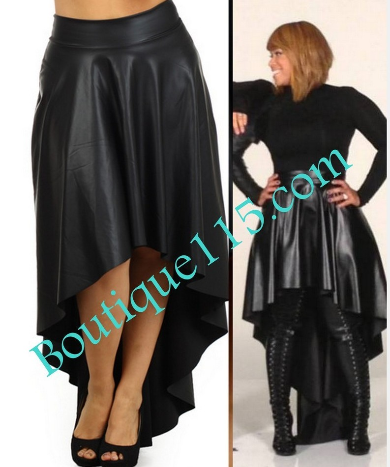 "GRAB HER STYLE: ""Mary Mary's Black Leather Palazzo Pants, Hi-Low ..."