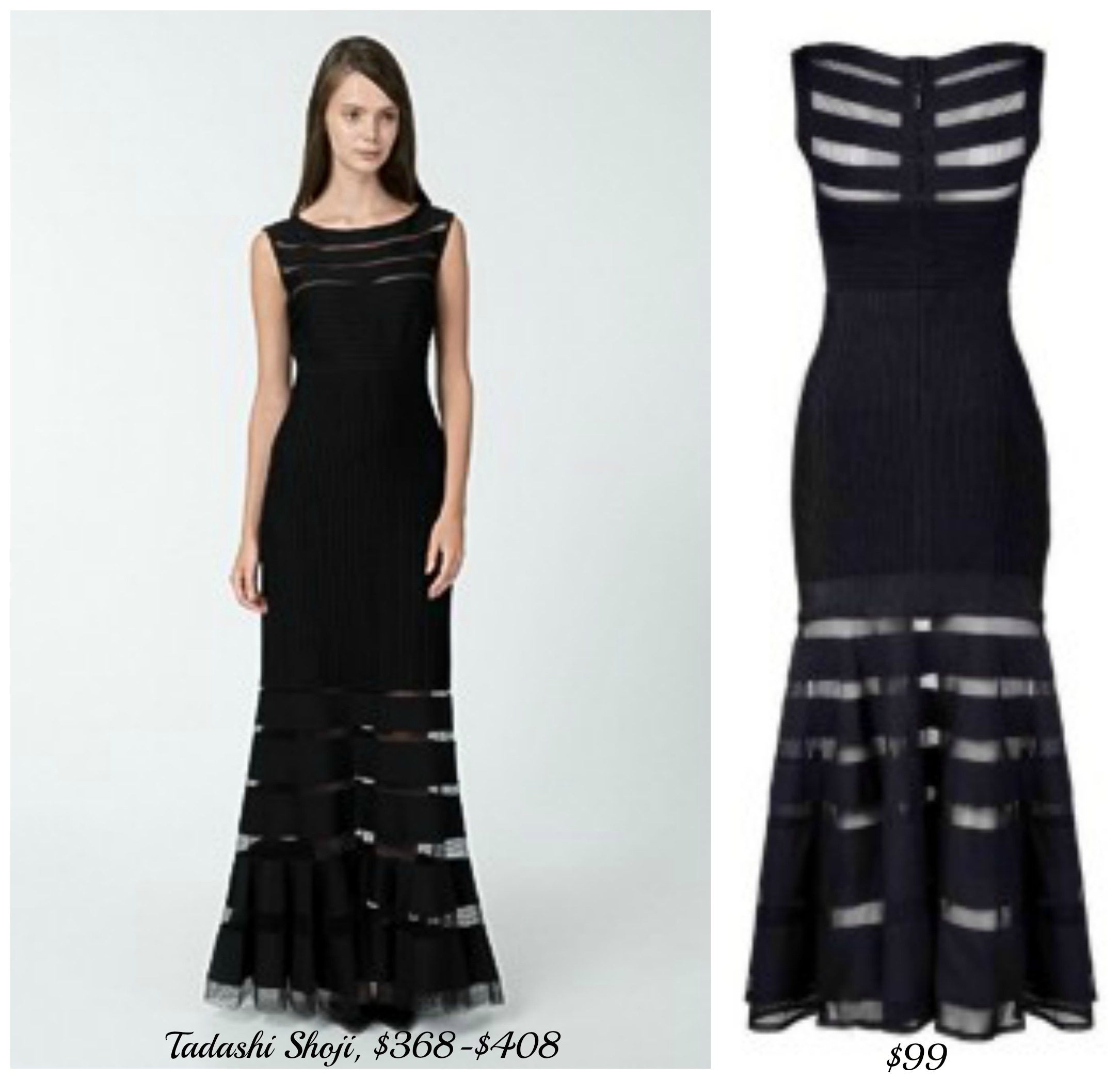 "The Look For Less: ""The Tadashi Shoji Pintuck Gown"" 