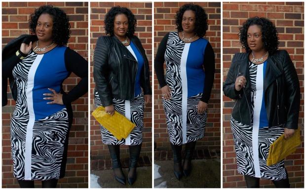 Asos Zebra Dress Collage