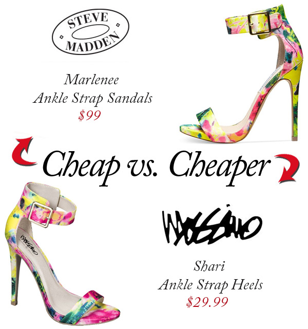 "The Look for Less: ""Steve Madden's Marlenee Ankle Strap Sandals ..."