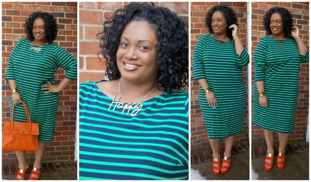 Jessica London Striped Dress Collage