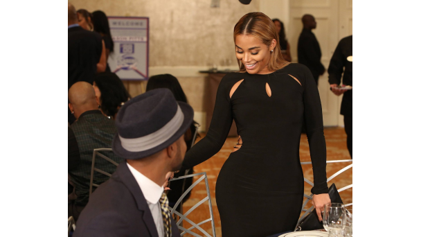 Lauren London Hair Styles: Grab Her Style: 'The Black Cut-Out Dress From BET's 'The
