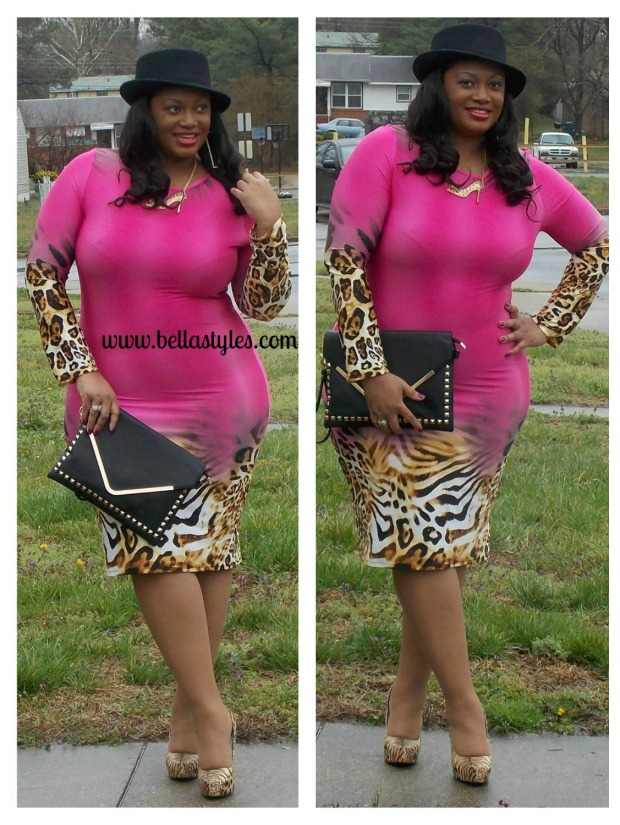 Pink Cheetah Dress Collage