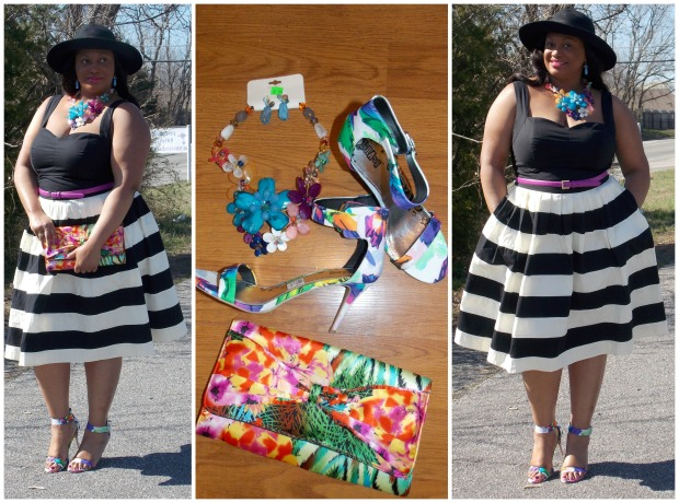 Her Fifties Dress Collage