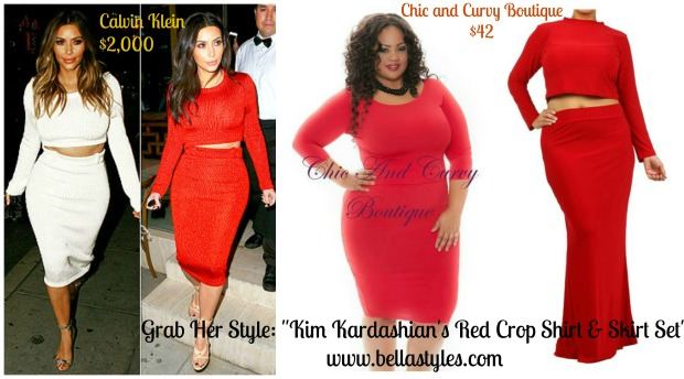 Kim K Red Crop Set Collage