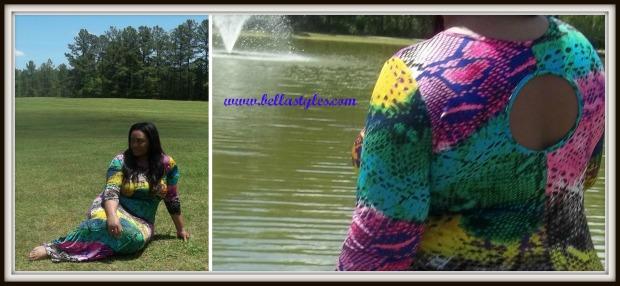 Rainbow Snakeskin Dress Collage