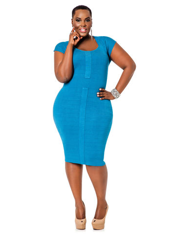 The Curvy Look For Less The Herve Leger Bandage Dress Trendy