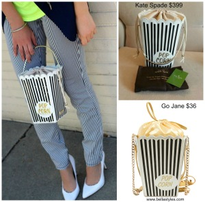 Kate Spade Popcorn Clutch Collage