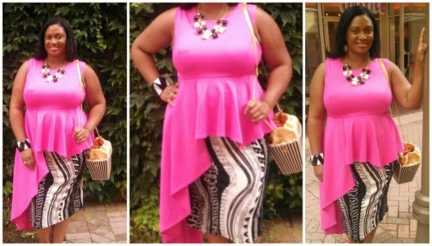 Pink Cascade Collage