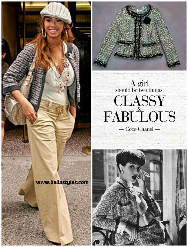 Chanel Tweed Suit Trend Collage
