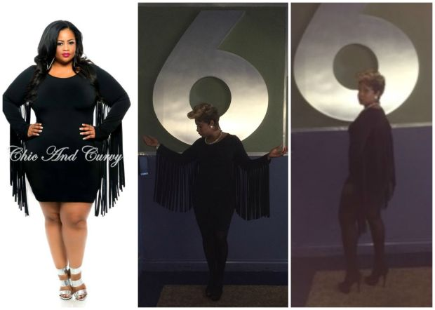 Chic and Curvy Fringe Dress Collage