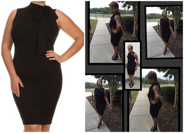 Manaya's Tie Neck Dress Collage